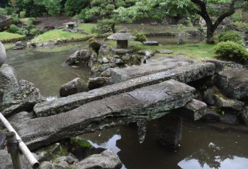 玉里庭園の三橋