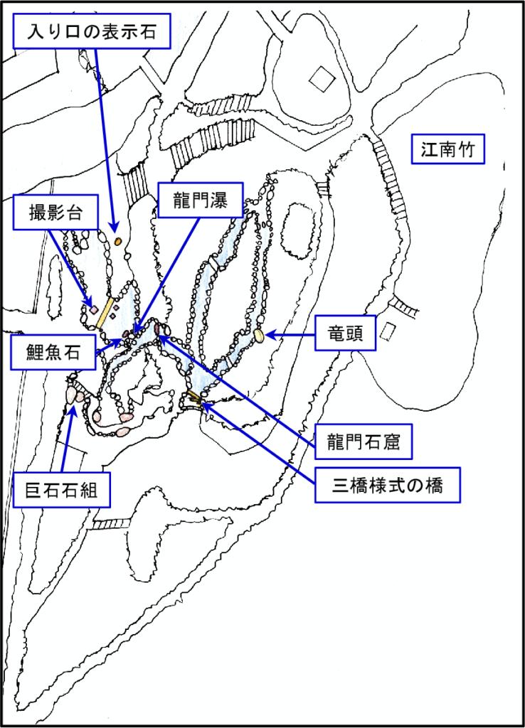 仙巌園案内図